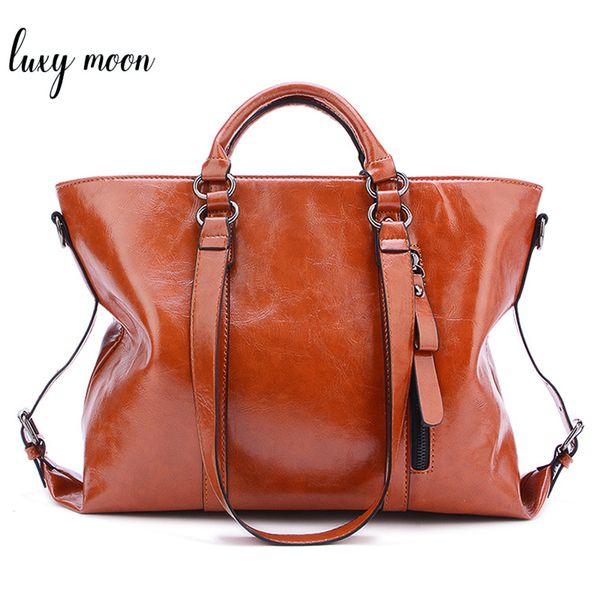 New Women Totes Vintage PU Leather Handbag Brown Ladies Shoulder Bags Female Retro Daily Causal Totes Elegant Shopping Handbag