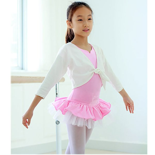 Girls Short Sleeve Ballet Gymnastaic Dress Kids Cotton Spandex One Piece Leotards Body Jumpsuit Girls Ballet Dress for Dance