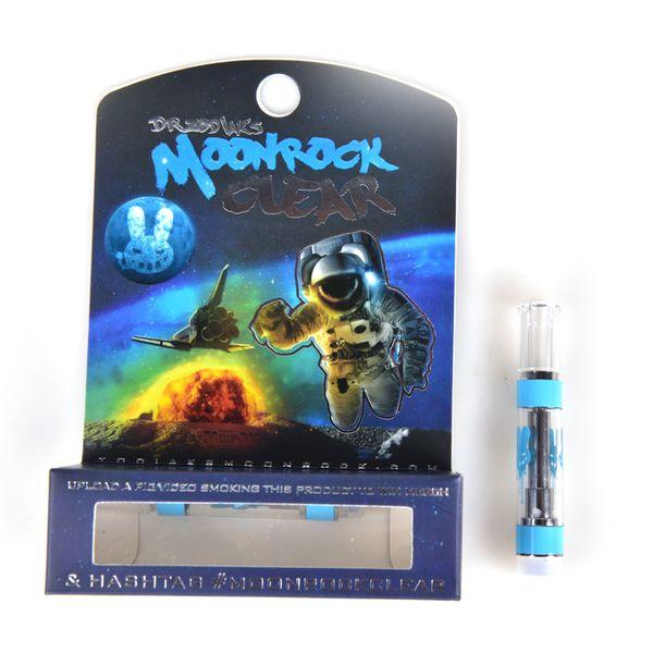 Nuevo cartucho MoonRock Clear 1.0 ml 1 gramo de cerámica Bobina Vape Vaporizador Moon Rock Carts para 510 Thread Thick Oil Atomizer at211