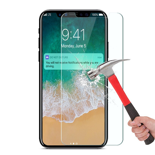 9H Tempered Glass Screen Protector Case For iPhone 7 7Plus 4 4S 5 5S 5C 5SE 8 X 6 6S Plus XR Xs Max Cover Phone Protective Film 1000pc