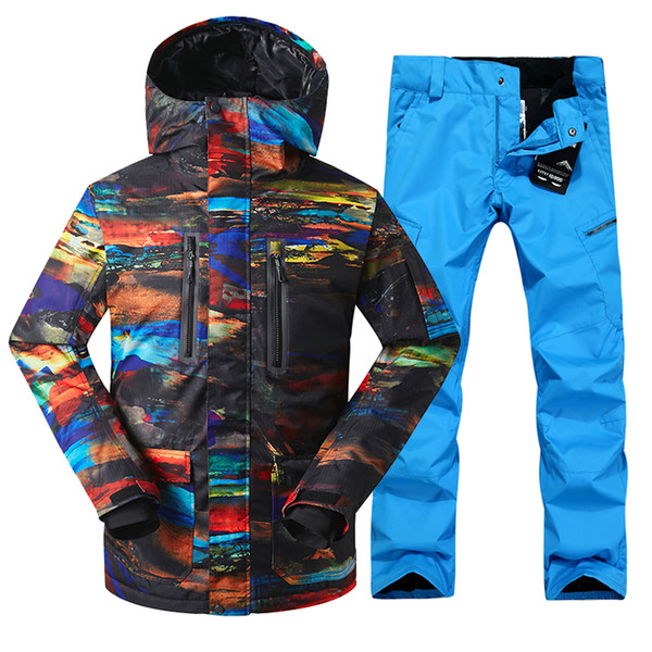 Skiing Suit Men's Winter Windproof Warm Ski Jacket Ski Pants For Men