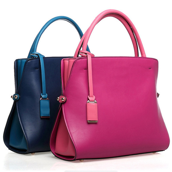 Charm2019 Customize Product Sweet Lady Handbag Solid Color Pu Bag Processing Woman Package
