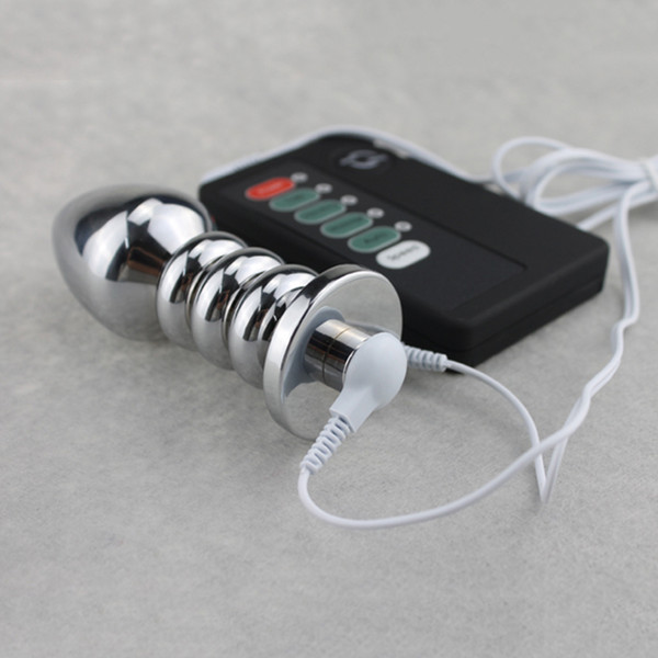 10.9 * 3.8 см Импульсный Big Head Thread Butt Plug Электрический Шок Из Нержавеющего Металла Анальный Плагин Секс-Игрушки Y19070302