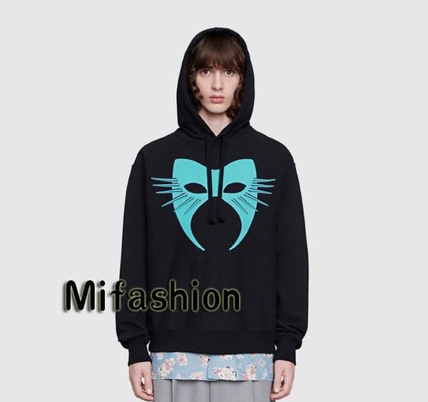 19FW Luxus-Herbst-Winter Europa Italien Maske Hoodies Mode Herren-Bekleidung T-Shirt WomenXXLGUCCI