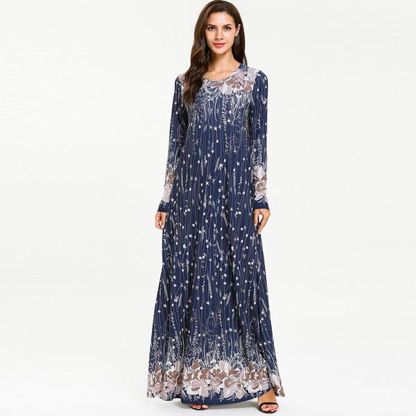 Abito Abaya Musulmano Caftano Dubai Abito Hijab Ramadan Turchia Abaya Per Donna Jilbab Caftano Elbise Qatar Abbigliamento Islamico Turco