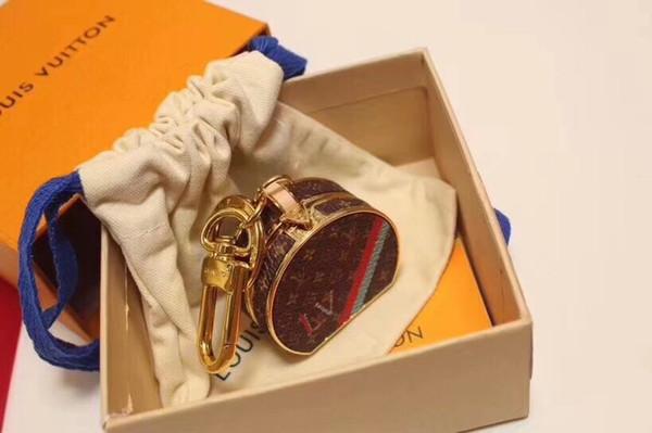 Yeni Charms Marka Anahtarlık Çanta Moda Anahtarlık Kolye Yaratıcı Deri Çanta Anahtarlık Hediye Kadınlar Lüks Tasarımcı Anahtarlık