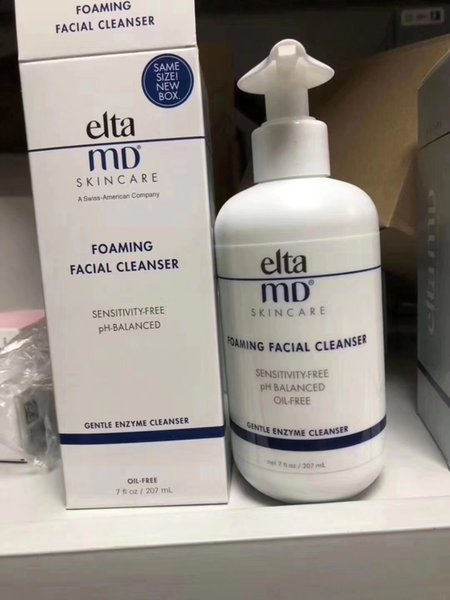 dhl elta md foaming facial cleanser skincare senstivity-ph-balanced oil-gentel enzyme cleanser face clean cream 207ml in stock