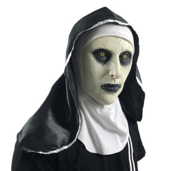 Halloween Mask A freira Horror Máscara Cosplay Valak máscaras de látex assustador máscaras Halloween Party completa Rosto Capacete Demônio ZZA1268 200PCS