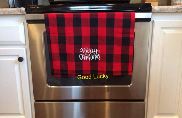 New Arrival Christmas Season Monogram Buffalo Plaid Tea Towel Kitchen Dish  Towel Mothers Day Gift Farmhouse Decoration Gym Towel Towels On Sale From  ...