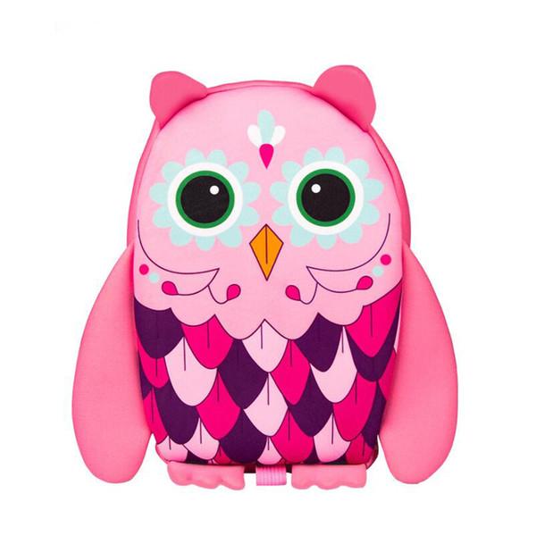 3D owl pattern Kids school bag cartoon animal Baby Bag Anti Lost School Bags for 2-6 Years Boys and Girls Waterproof backpack