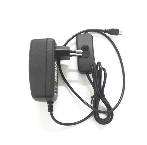 라즈베리 파이 제로 태블릿을위한 DC 전원 공급 어댑터 유럽 연합 (EU) 미국 플러그 벽 충전기 어댑터에 50PCS 마이크로 USB 5V 3A 3,000mA AC