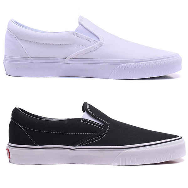 black and white classic canvas shoes men's shoe slip on lazy shoe women's shoes lovers board outdoor sport