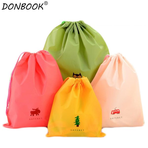 Donbook 1PC Fashion Travel Storage Bags Rope Organizer Bag For Clothing Underwear Socks Shoes Storage Bag Housekeeping 9808