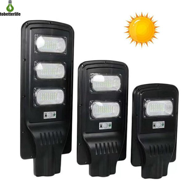 Nouveau LED Solaire Réverbère 20W 40W 60W PIR Capteur De Mouvement Contrôle de La Lumière IP67 Étanche Solaire Murale Extérieure Solaire avec Pôle De Montage