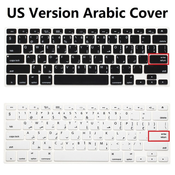"""Ultra Soft Us Silicone Keyboard Cover Skin Film For Macbook Air Pro 13 15 17 Arabic Keyboard Stickers For Mac Book Air 13"""" T190619"""