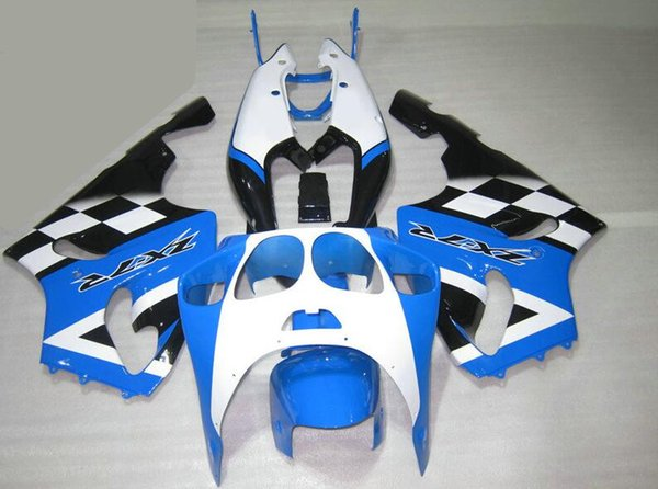 Novo Kit de carenagens completas para KAWASAKI NINJA ZX7R ZX7R ZX 7R 1996 1997 1998 1999 2000 2001 2002 2003 ABS Conjunto de carenagem Azul