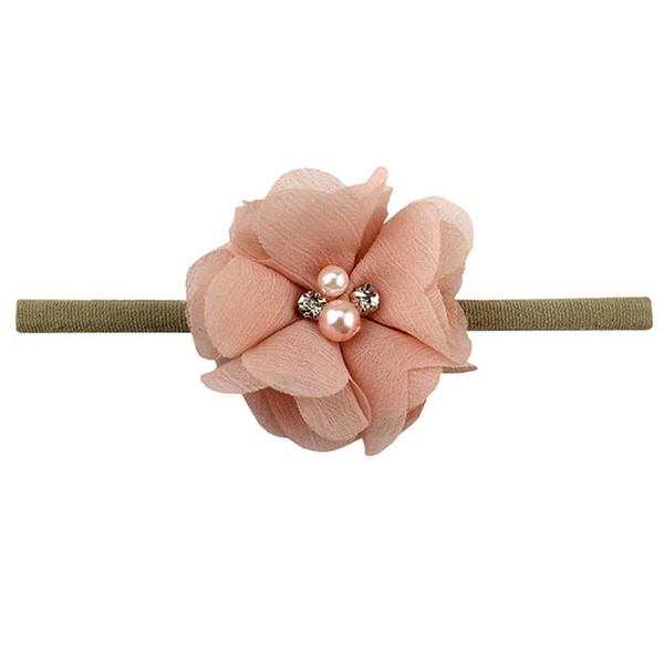 Blumenbabystirnband Nylon neugeborenes Stirnband Mädchen Stirnbänder Kind-Babyhaarzusätze A8211 Stirnband