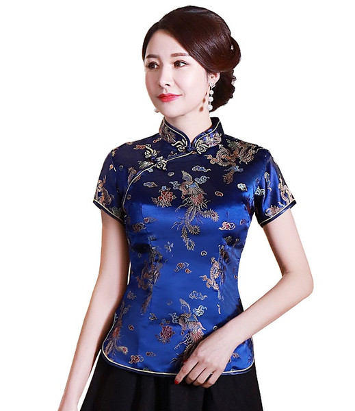 Dark Blue With Dragon Embroidery