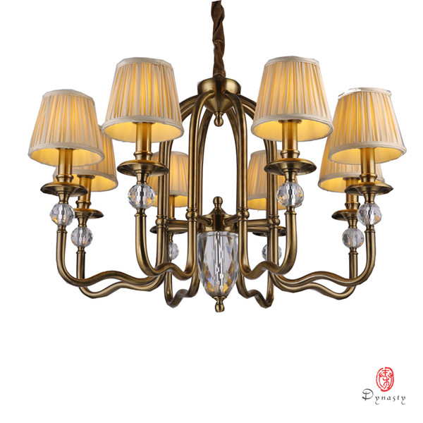 classical chandelier traditional america copper brass pendant lamp europe antique lighting fixture led foyer lobby living room dynasty light