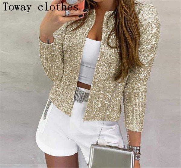chaqueta de las mujeres del oro