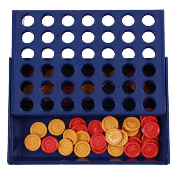Kinder Pädagogisches Lernen Kinderspielzeug Bingo Spiel Vierfach Blau Vertikal Verbinden Schachbrett Dame 20 Stücke Großhandel