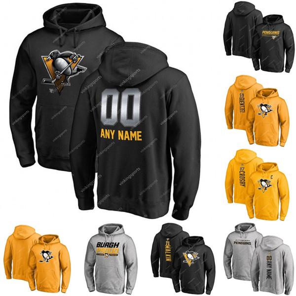 Pittsburgh Penguins hoodie dos 87 Sidney Crosby Evgeni Malkin Phil Kessel Kris Letang Mario Lemieux Matt Murray Jake Guentzel Hornqvist Hockey