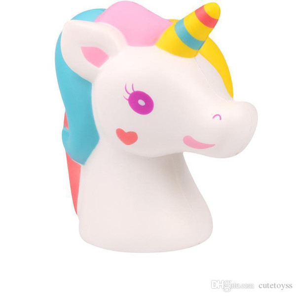 Good Squishy Toys horse unicorn Kawaii Animal Slow Rising Jumbo Squeeze Phone Charms Stress Reliever Kids Gift squishies t126