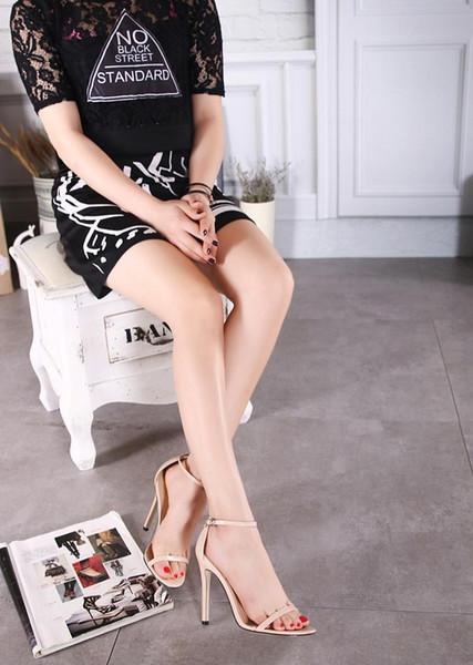 [H] Balık Başkanı Açık parmaklı sandalet ile Kaba yaz Süper Yüksek Topuk Sandalet Seksi Büyük Beden Kadınlar Ayakkabı .zl-726-3 Y190706