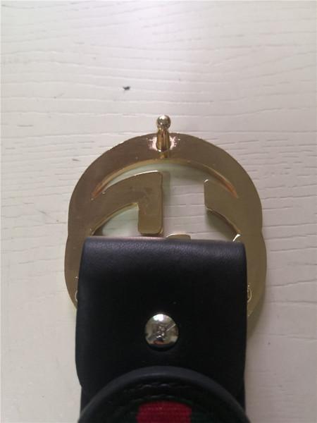 # 5 = Goldschnalle Schwarz gestreifter Gürtel