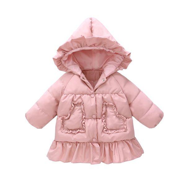 Coeur fille Manteaux bébé duvet de canard neige Porter Veste GirlsToddler Infant Manteaux Babys Vestes capuche enfants Manteaux d'hiver GPS