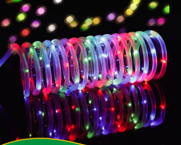 Solar Powered Christmas Lights.Tube String Lights Solar Powered Waterproof Outdoor Christmas Lighting For Fence Tree Holidat Decoration 100 Leds Patio Light String String Party