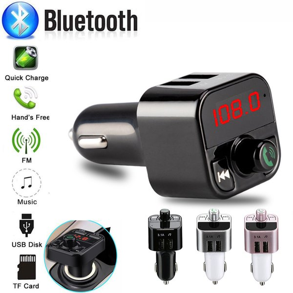 Mini MP3 Player Car Styling Wireless FM Transmitter Auto FM Bluetooth Modulator Handsfree Support TF USB Music Receiver #618