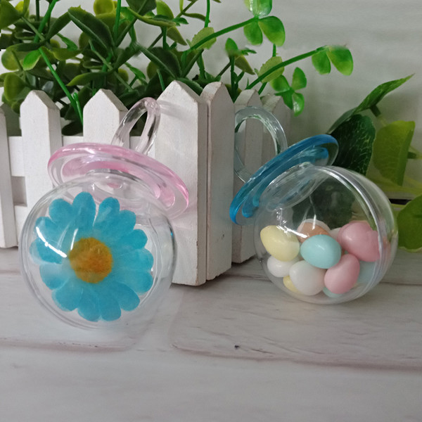 Food Grade Plastic Nipple Candy Boxes Baby Shower Favors Birthday Gift Sweet Box Party Giveaway