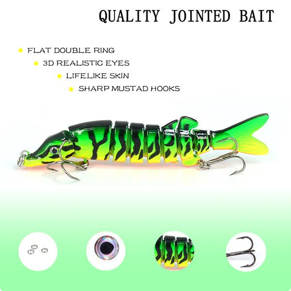 1pcs Fishing Lures Wobblers Quality Swimbait Crankbait 9cm 7g Hard Bait Isca Artificial Fishing Tackle Lifelike Lure 8 Segment