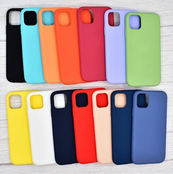 Al por mayor para iPhone 11 pro max 6 6s más 7 8 más X X max Xr cubre color sólido TPU con la caja al por menor