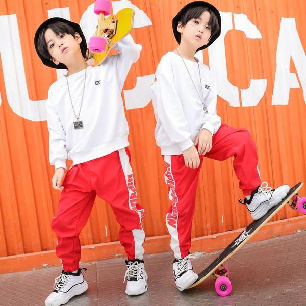 Девочки Мальчики Хип-Хоп Джаз Танцевальные Костюмы Одежда для Бальных Танцев Детская Повседневная Рубашка Толстовка Топы Современное Шоу Брюки-Бегуны