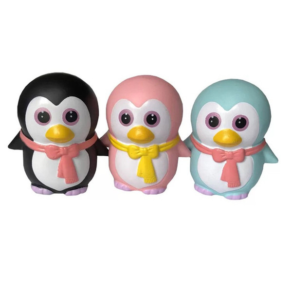 Fidget Squishy Toy Cartoon Dog Bear Fawn peach tooth shit penguin squishies Slow Rising Soft Squeeze Cute Strap gift Stress children toys