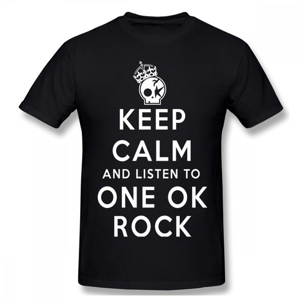 Round Neck Keep Calm One Ok Rock T SHIRT New Casual Tee For Men Webuy T Shirt Nice Streetwear