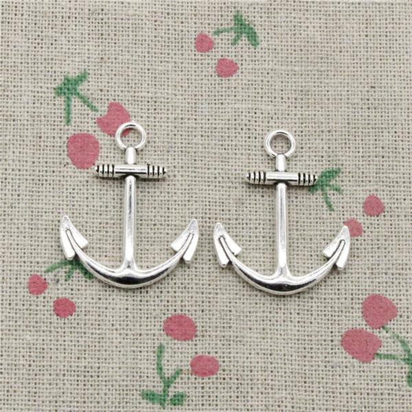 60pcs Charms anchor sea 31*25mm Tibetan Silver Vintage Pendants For Jewelry Making DIY Bracelet Necklace