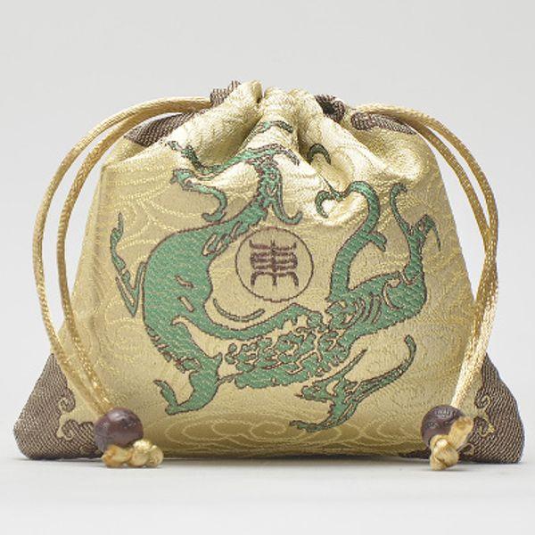 Küçük İpli Unicorn Takı Hediye Çanta Yüksek Kaliteli Ejderha Çin Ipek Kılıfı Zanaat canavar Ambalaj çanta 9x12 cm 10 adet / grup