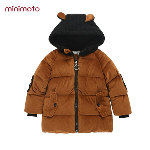 New Kids Jackets Baby for Girls Winter Boys Parkas Hooded Outerwear Infant Warm Thick Coats Snowsuits Children Overalls Clothes