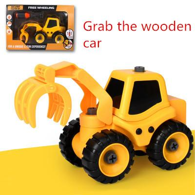 grab the wooden car