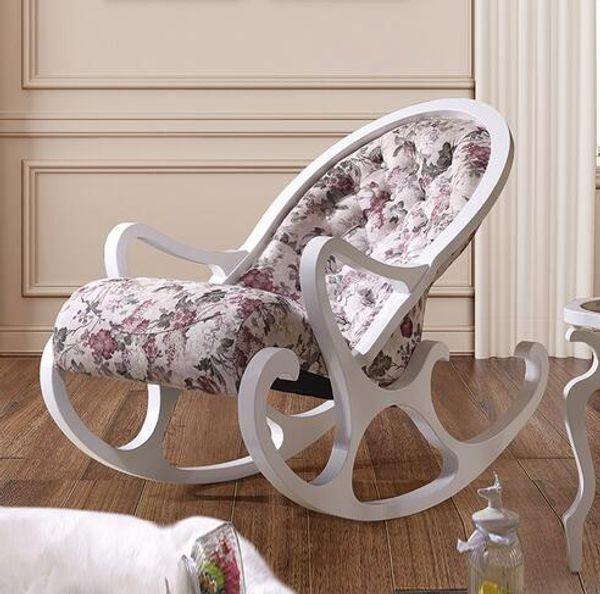 new style b30c4 83f15 Rocking Chair Sallanan Sandalye Fotel Bujany Armchair Fauteuil Salon  Poltrona Armchair Sillon Chairs Living Room Schommelstoel White Outdoor  Rocking ...