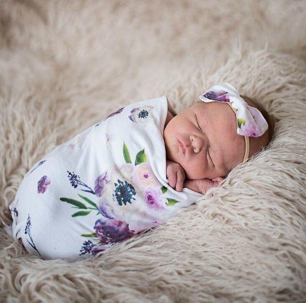 Yenidoğan Bebek Bebek Kundak Uyku Tulumları Bebek Muslin Battaniye + Kafa Bebek Yumuşak Pamuk Koza Uyku Çuval Bandı 2 adet set A287