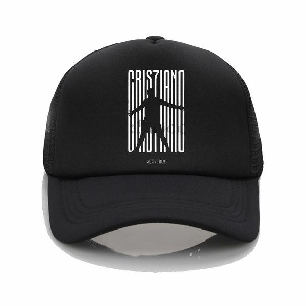 CR7 JUVE Logo print hats Summer Mesh Sun Caps CR7 JUVE pattern printing Baseball Hats Couple fashion hip hop hat