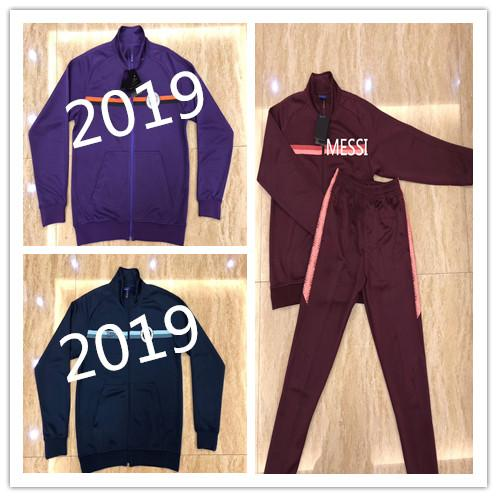 Top quality 2019 MESSI AGUERO HAZARD soccer jackets survetement kits 2018 2019 DE BRUYNE G.JESUS SILVA tracksuit jacketS Sweatshirt