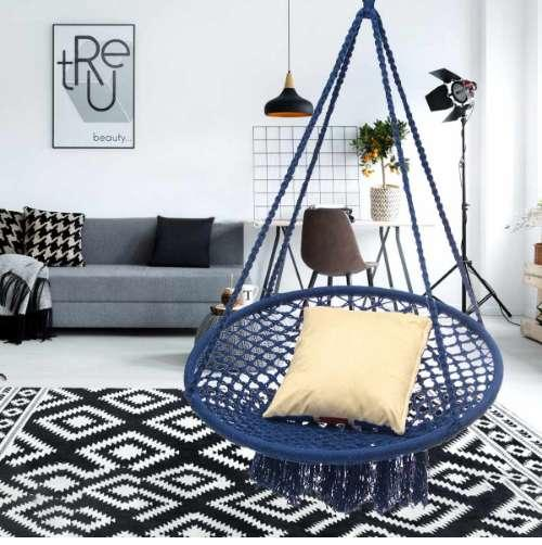 Miraculous 2019 Round Hammock Furniture Outdoor Indoor Swing Chair Hanging For Dormitory Bedroom Blue Hammock Chair For Children Adult From Renara 144 73 Ibusinesslaw Wood Chair Design Ideas Ibusinesslaworg