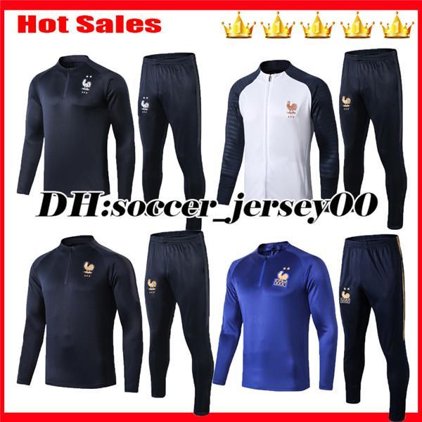 2019 2020 Maillot de Foot survetement 19 20 futbol koşu chandal Equipe de franCEs uzun kollu futbol eşofman eğitim takım elbise ceket