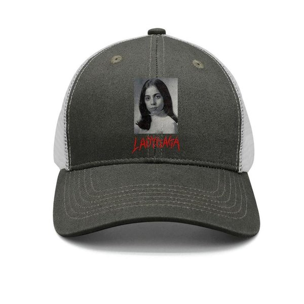 Lady Gaga Picture army-green mens and womens trucker cap baseball styles custom plain hats