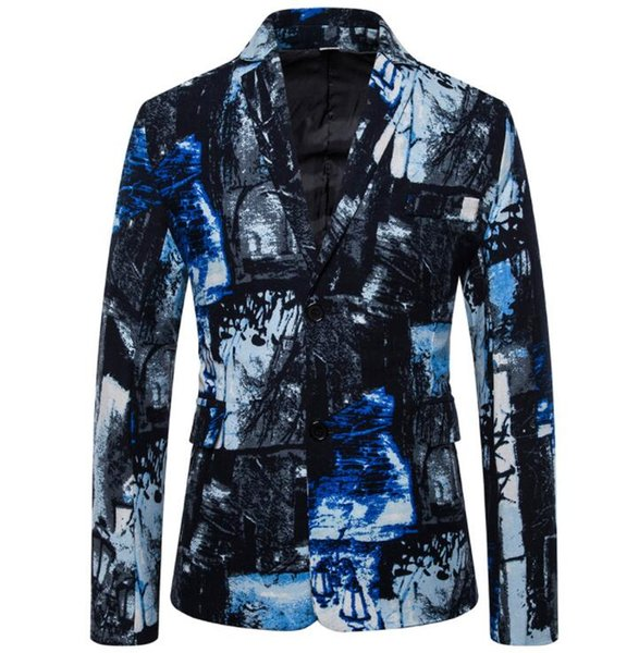 coton et lin imprimé mode REVERS costumes hommes blazer Masculino slim fit casaco Jaqueta masculina manteaux Veste homme